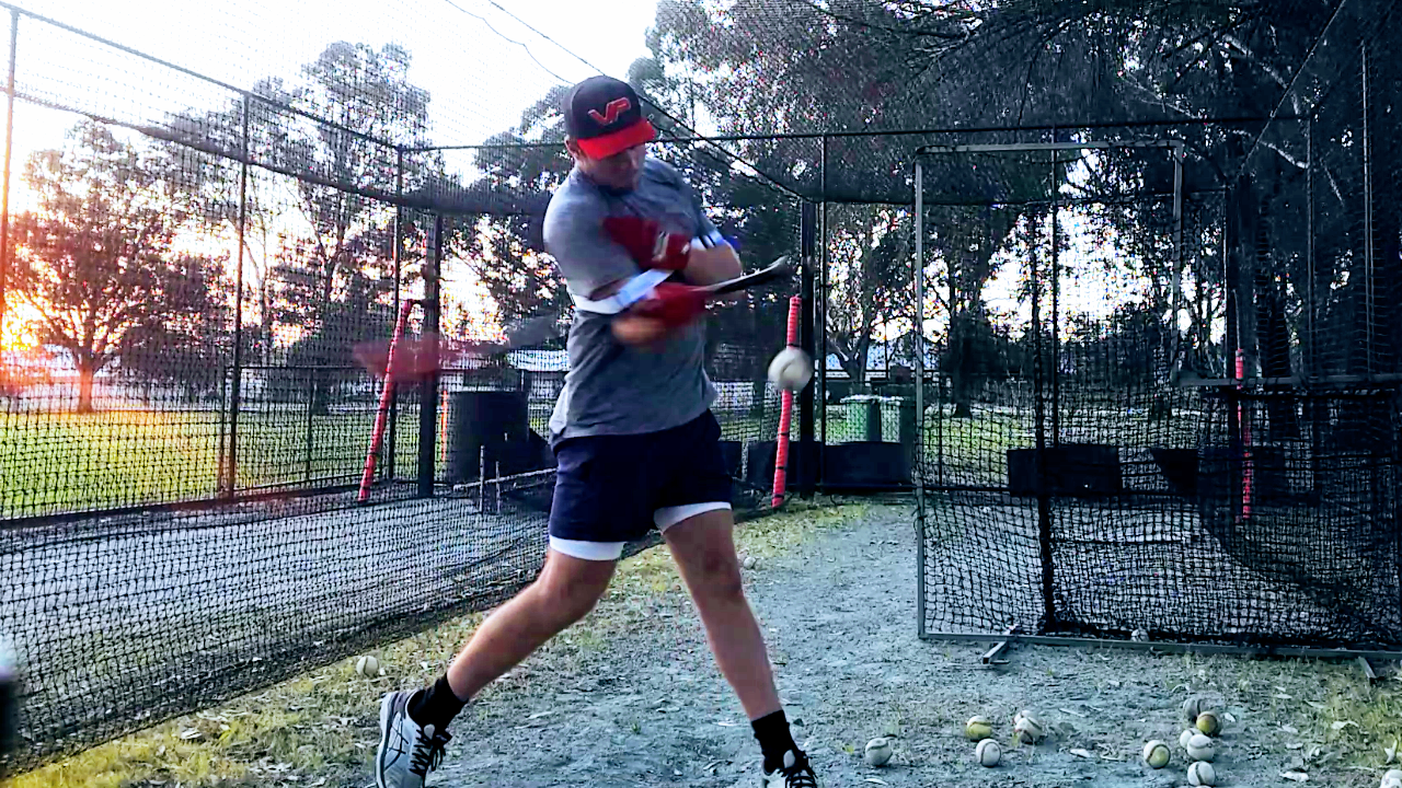 Top Hand Side Toss Fastball Hitting Drill