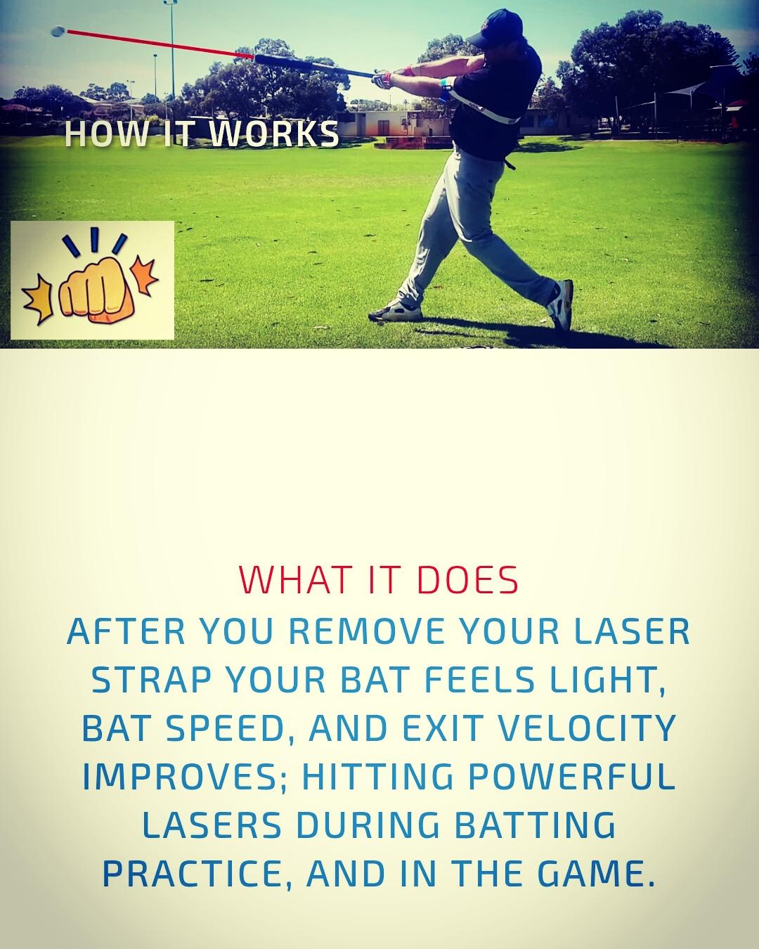 Laser Strap Power Hitting Aid