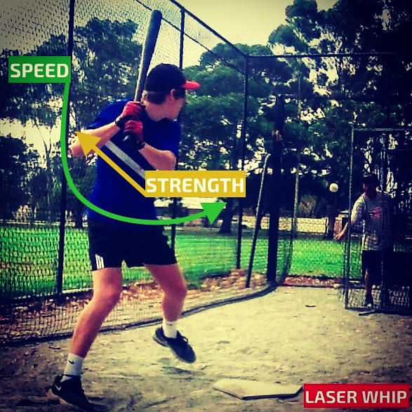 Laser Power Swing Trainer Power Hitting Aid