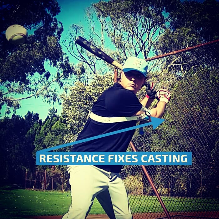Our globally patented batting aid provides the perfect amount of resistance, fixing swing path mistakes such as a casting baseball, or softball swing.