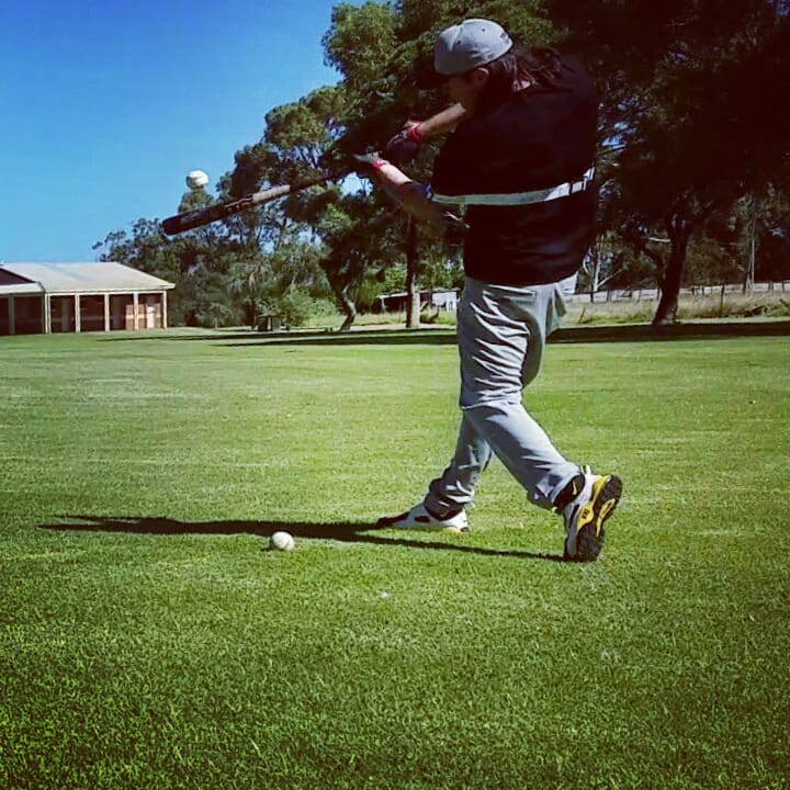 """Our baseball swing trainer exposes and fixes your """"lunge and reach"""" swing."""