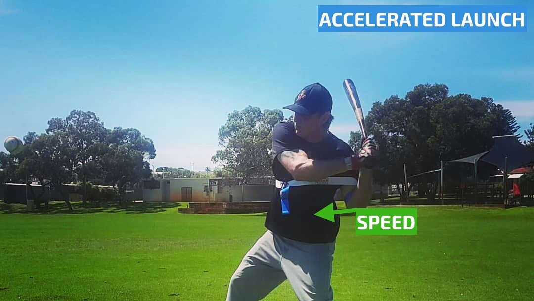 Starting your swing path, our baseball swing trainer uses energy from Exoprecise resistance, to trigger acceleration; improving bat speed, contact accuracy, fix a casting swing, and build fast twitch muscle fibers for game day.
