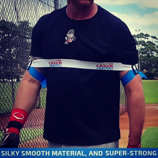 Our baseball hitting trainer strengthens hitting muscles, increases bat speed, coaching you to a power baseball swing. Laser Baseball Power Swing Trainer.