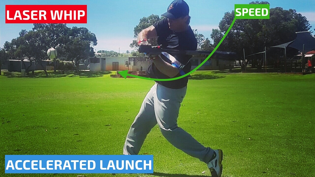 Increase bat speed. Starting your swing path, our top rated bat speed trainer gives you a boost of acceleration for big league power hitting.