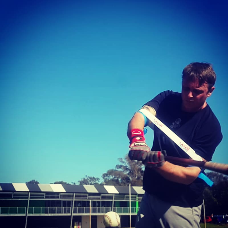 Laser Blast: Our bat speed training aid gives a simultaneous push, and pull force, triggering a relaunch of bat speed for a powerful swing.