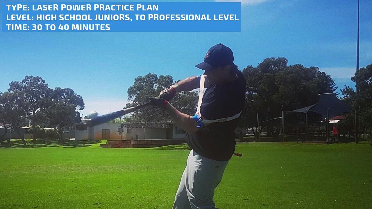 Baseball and softball power batting practice plan. Level - High School Baseball to Professional Baseball. Batting practice time - 30 to 40 minutes.