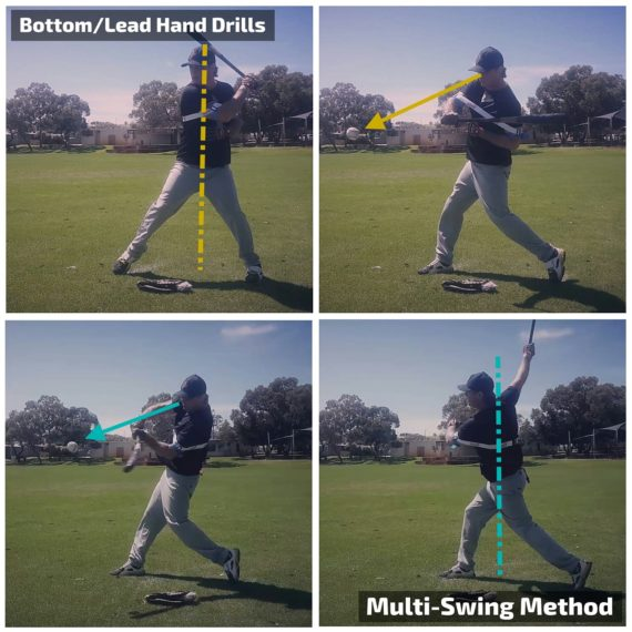 Lead hand extension hitting drills