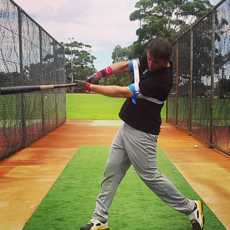 Staying through the ball, bat speed changes to momentum; critical for power, and extension. Our power batting trainer gives Exoprecise resistance, improving strength in hitting muscles; triggering another boost of bat speed to finish your swing.