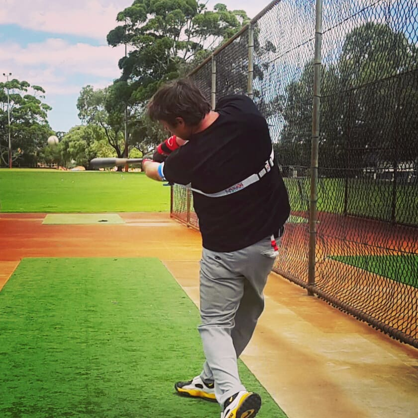 To reduce strikeouts, keep your eye on the ball all through your swing, even after you make contact.