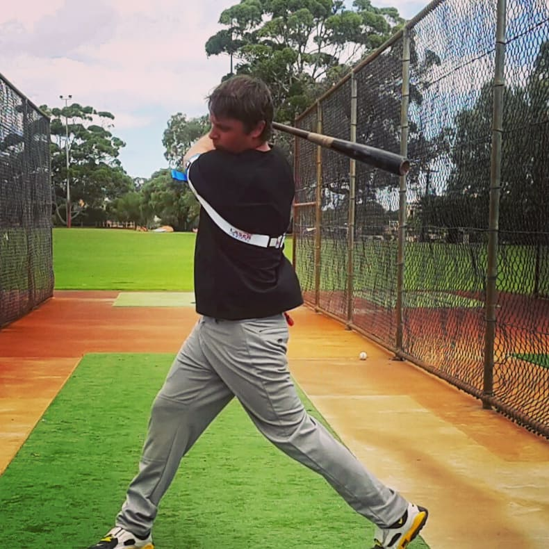 Powerful Baseball Swing Follow Through