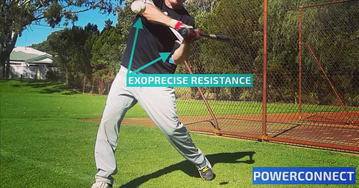 Exoprecise resistance keeps your hands inside the ball, for every swing.