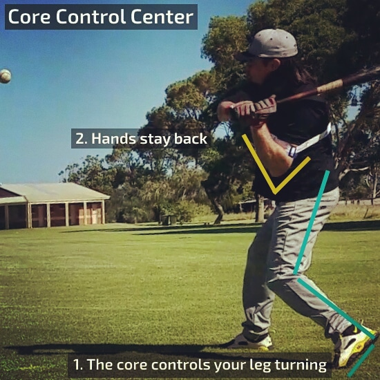 Core Control Center - The core controls your leg turning - Hands stay back
