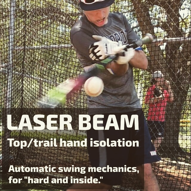 laser beam top hand batting drill