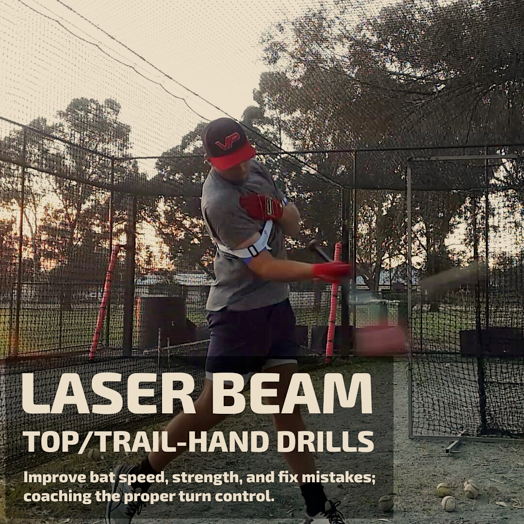 laser beam top hand hitting drills