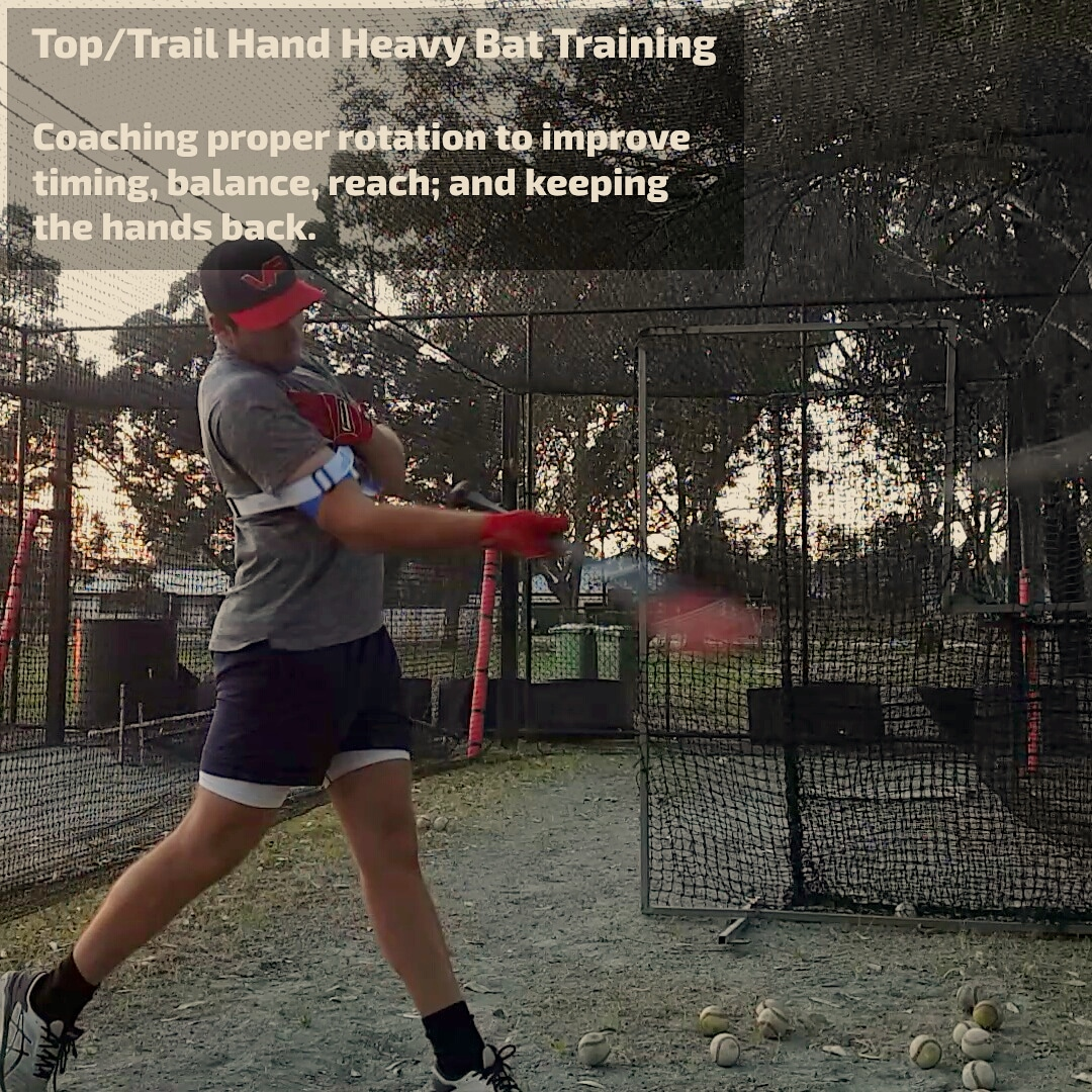 laser beam top hand hitting drills