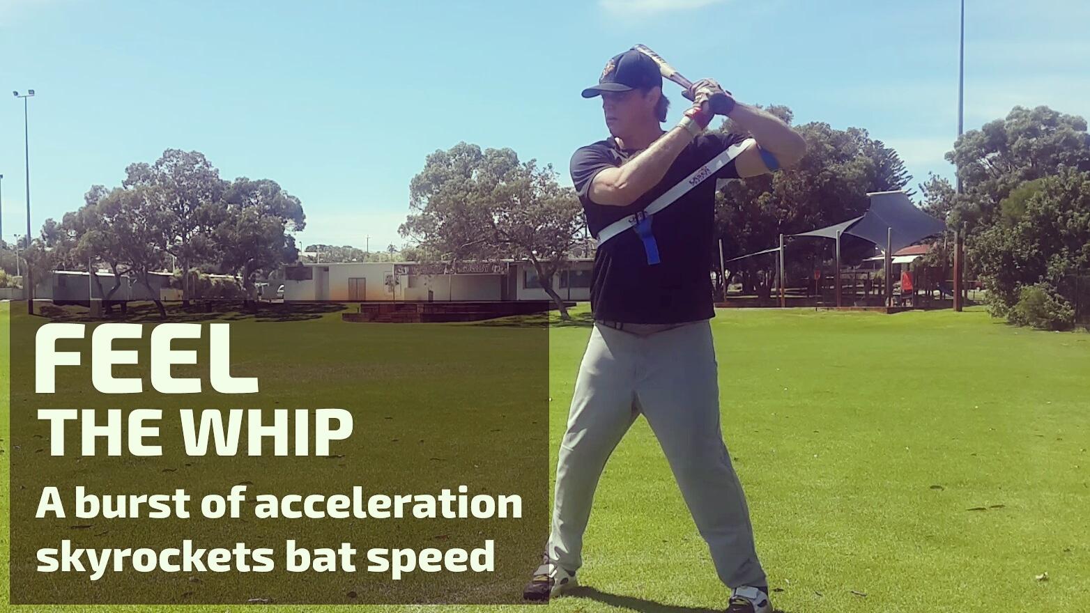 laser whip bat speed hitting drills