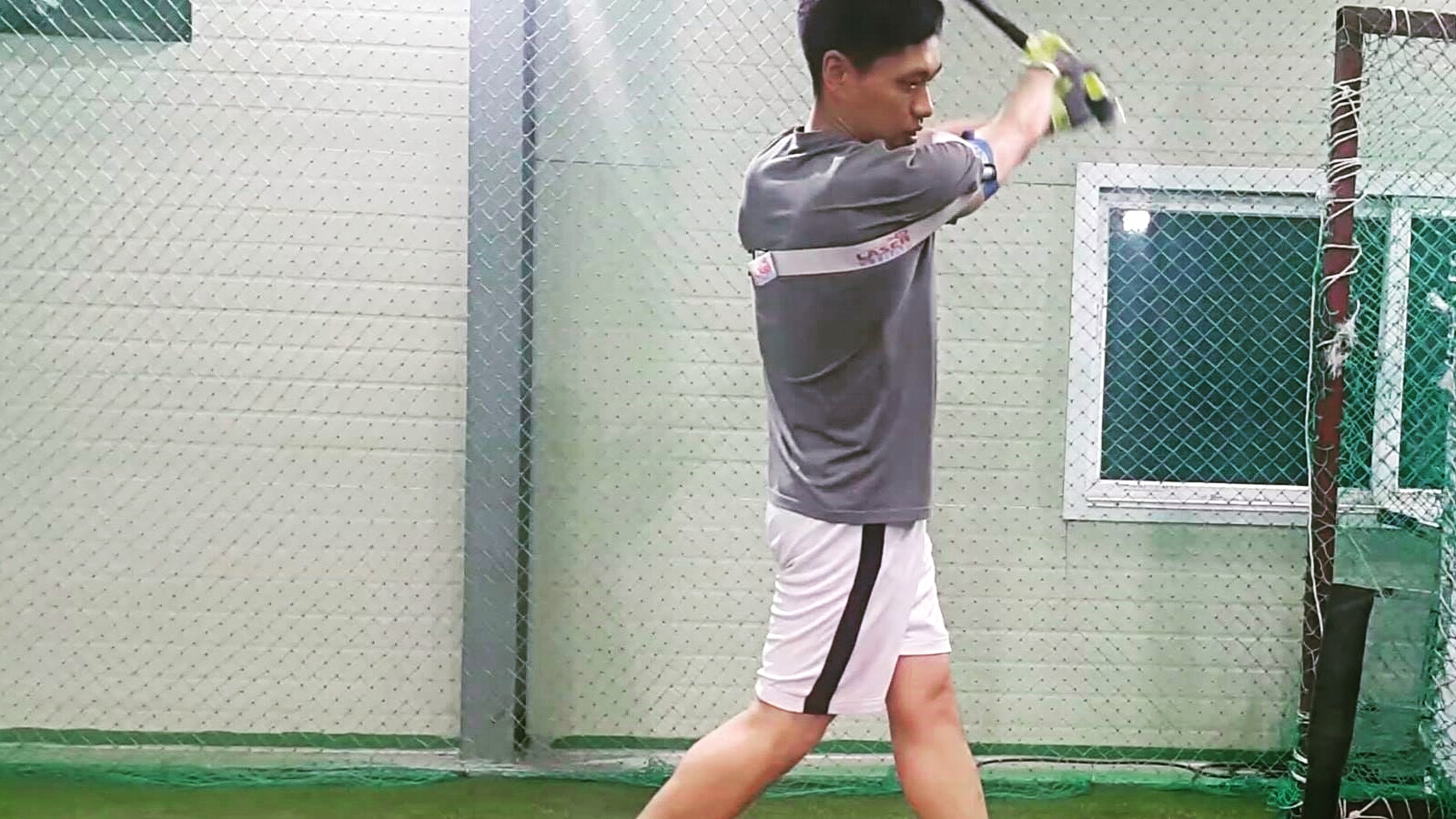 Muscle memory for bat speed, keeping your hands-inside-the-ball; during batting practice.