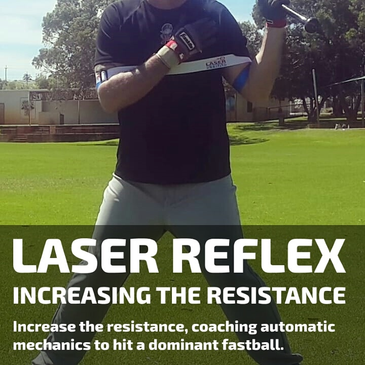 laser reflex and laser beam hitting drills