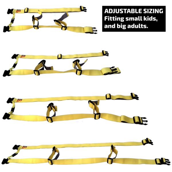 Adjusts to fit all sizes, proper sizing is critical to the performance